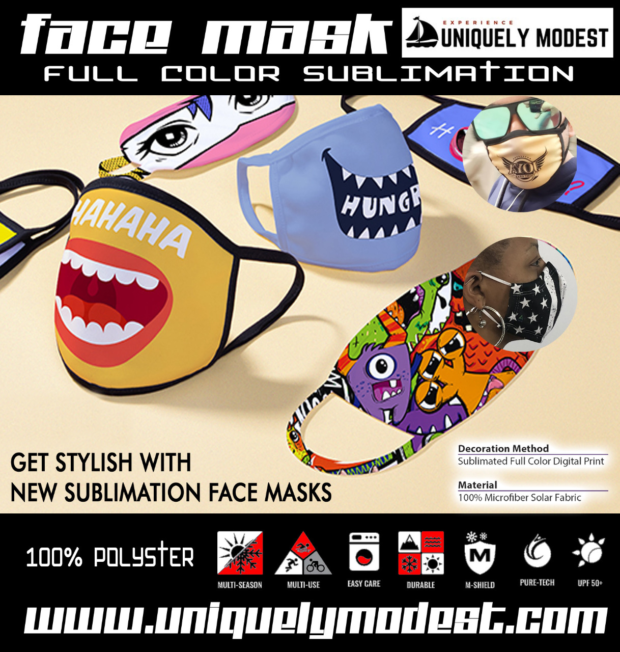Custom Sublimated Masks