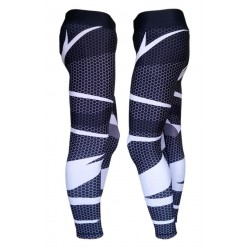 Men - Sublimated Black Spotted Fitness Tights