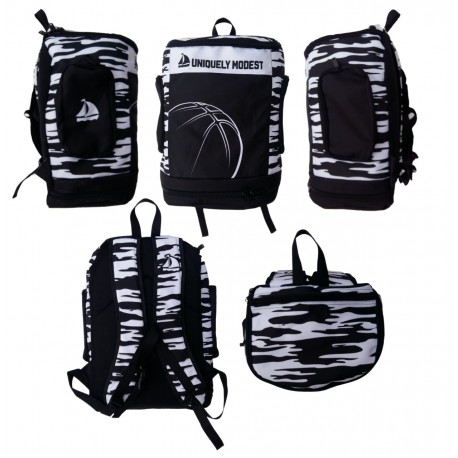 Black and white basketball Bags
